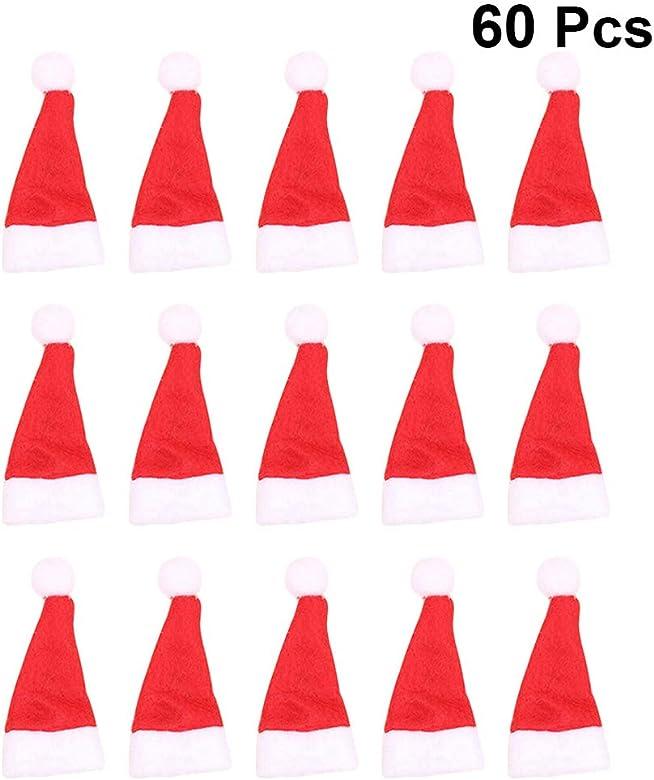Toyandona - 50 minisombrero de piruleta de Navidad, minisombrero ...