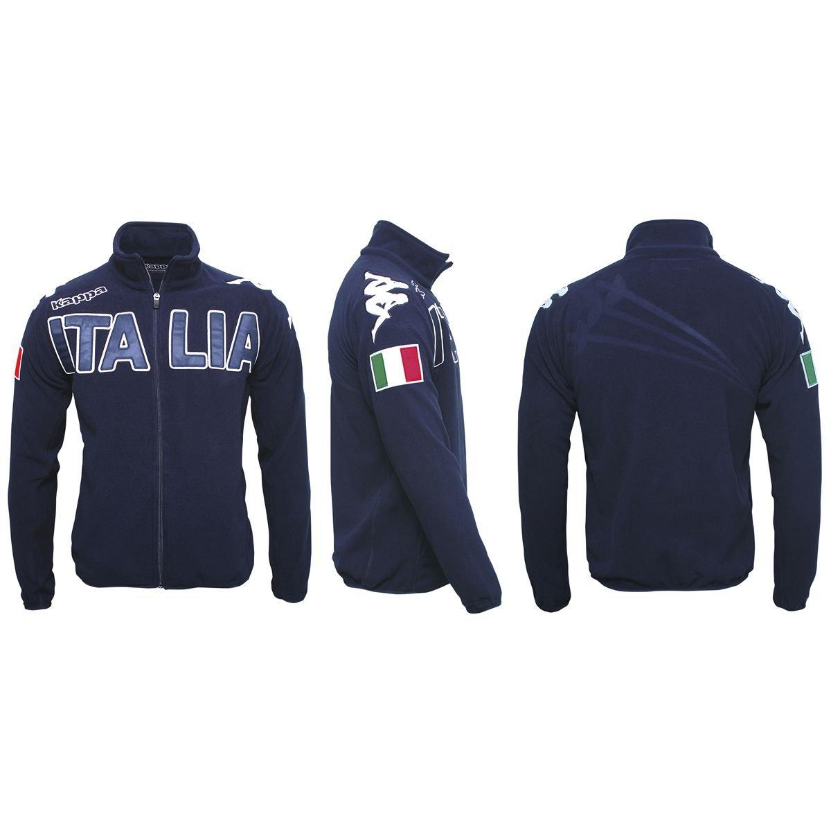 Kappa Felpe Eroi Polar Italia Fis Navy Blue XXL