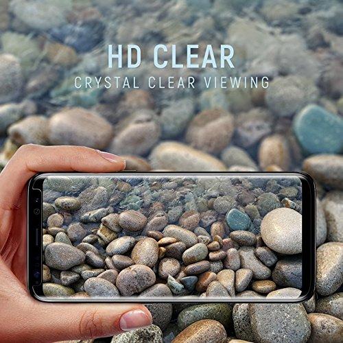 0223 (3 - Pack) Samsung Galaxy S8 PET HD Screen Protector , Wtbone [No Bubble][Case-Friendly][3D coverage] PET HD Screen Protector