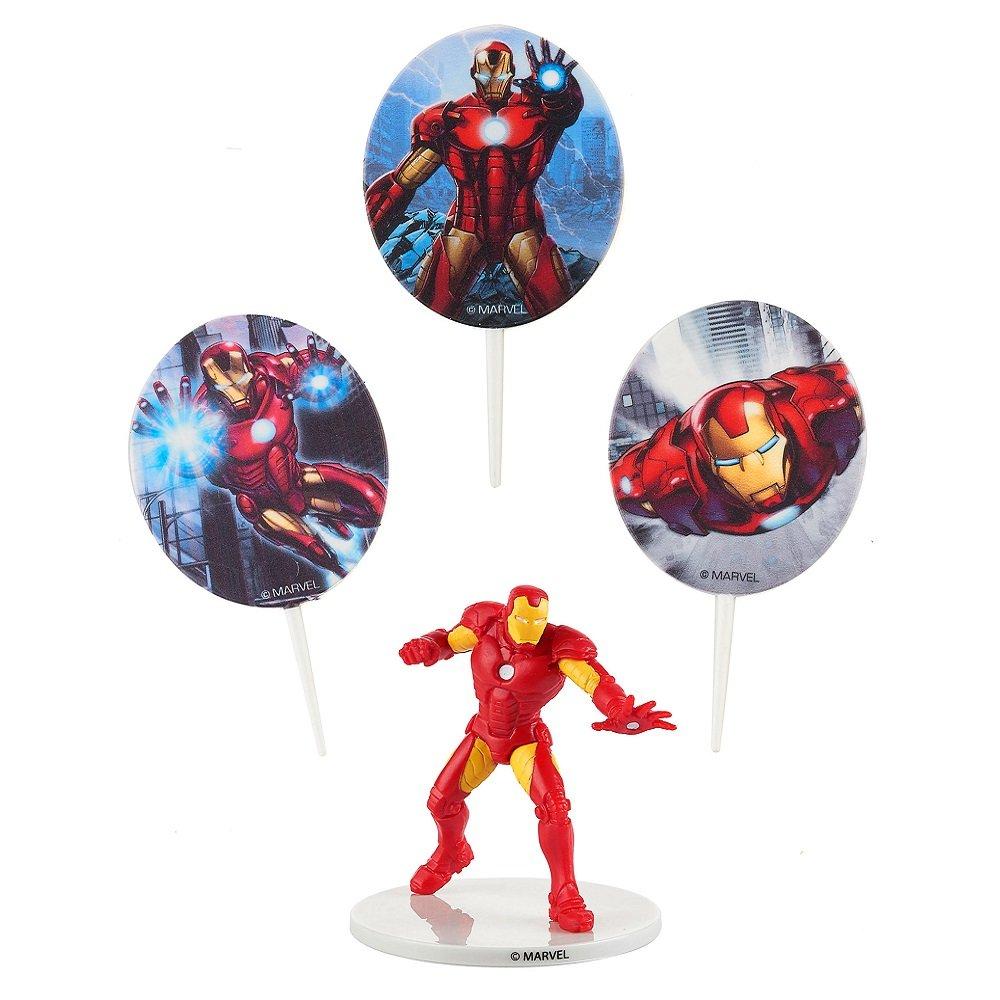 Générique - Kit de decoration Marvel Iron Man para Gateau de ...