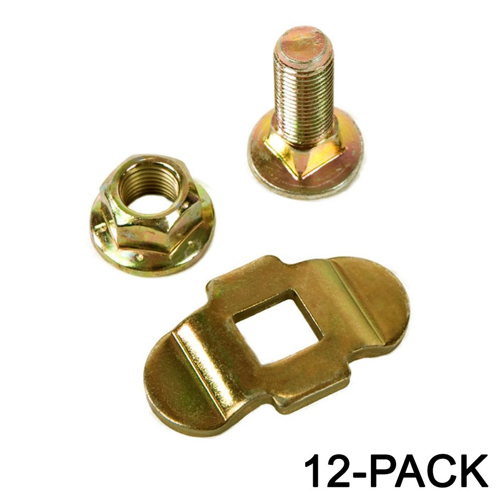 Aluminum Load Track Mounting Kit w/ Stud Nut, Tiedown 12-Pack by Fittings for Aluminum Track-Multi Packs