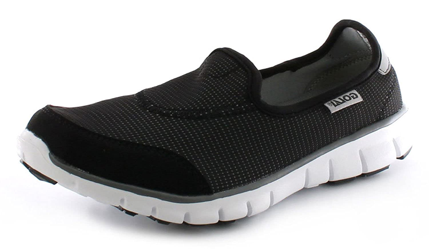 e0441685e08 New Ladies Womens Black Grey Lightweight Non Marking Sole Trainers -  Black Grey White - UK SIZE 8  Amazon.co.uk  Shoes   Bags
