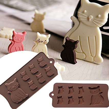 Cats Kittens 5 cavity Silicone Mold for Fondant Gum Paste Chocolate Craft NEW