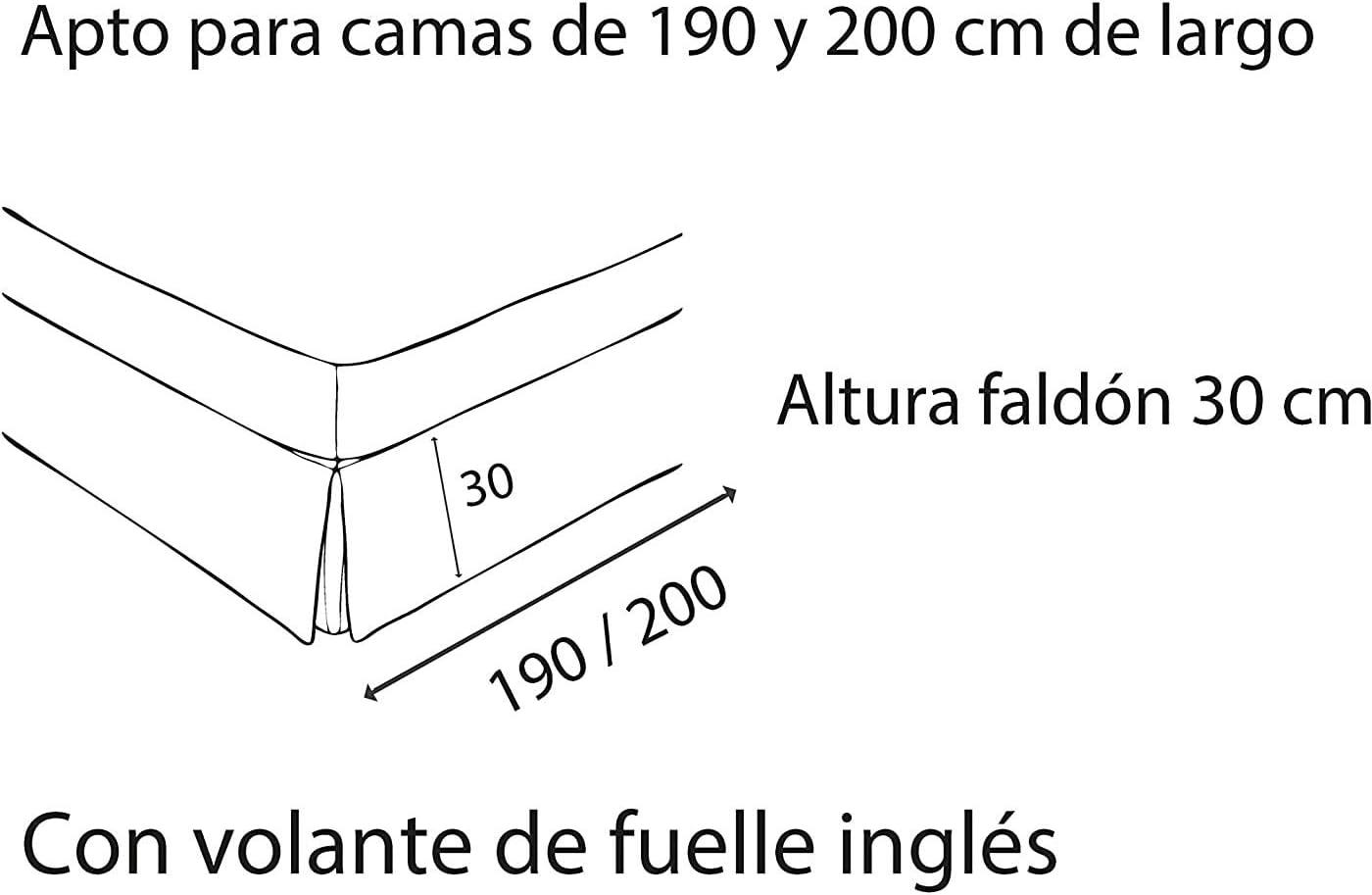 ZETA TEX - Cubre Canapé Color Blanco 150x190cm