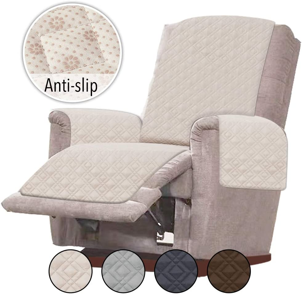 Rose Home Fashion RHF Anti Slip Chair Covers for Leather Sofa, Slip Resistant for Chair, Recliner Cover, Furniture Protectors for Recliner Chair