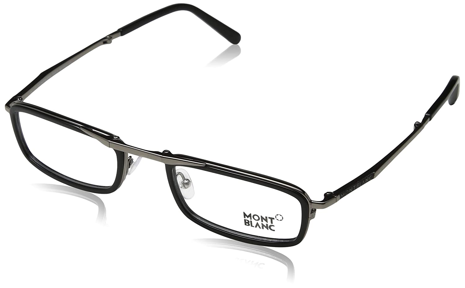0b473591603 MONT BLANC MB0682 001 53MM FOLDABLE FRAMES at Amazon Men s Clothing store