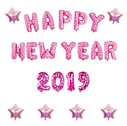 Amazon.com: EBTOYS 2019 Balloons Set Happy New Year Letter