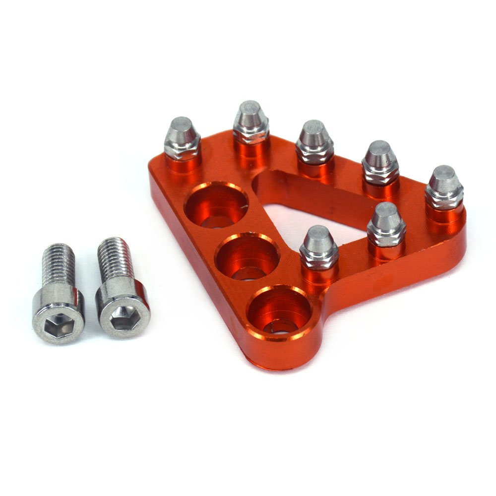 Orange JFGRACING Motorcycle Billet Rear Brake Pedal Step Tip Replacement 125 250 300 350 450 530 690 950 990 SX EXC XCF SXF XC XCW EXCF EXCW EXCF SMR