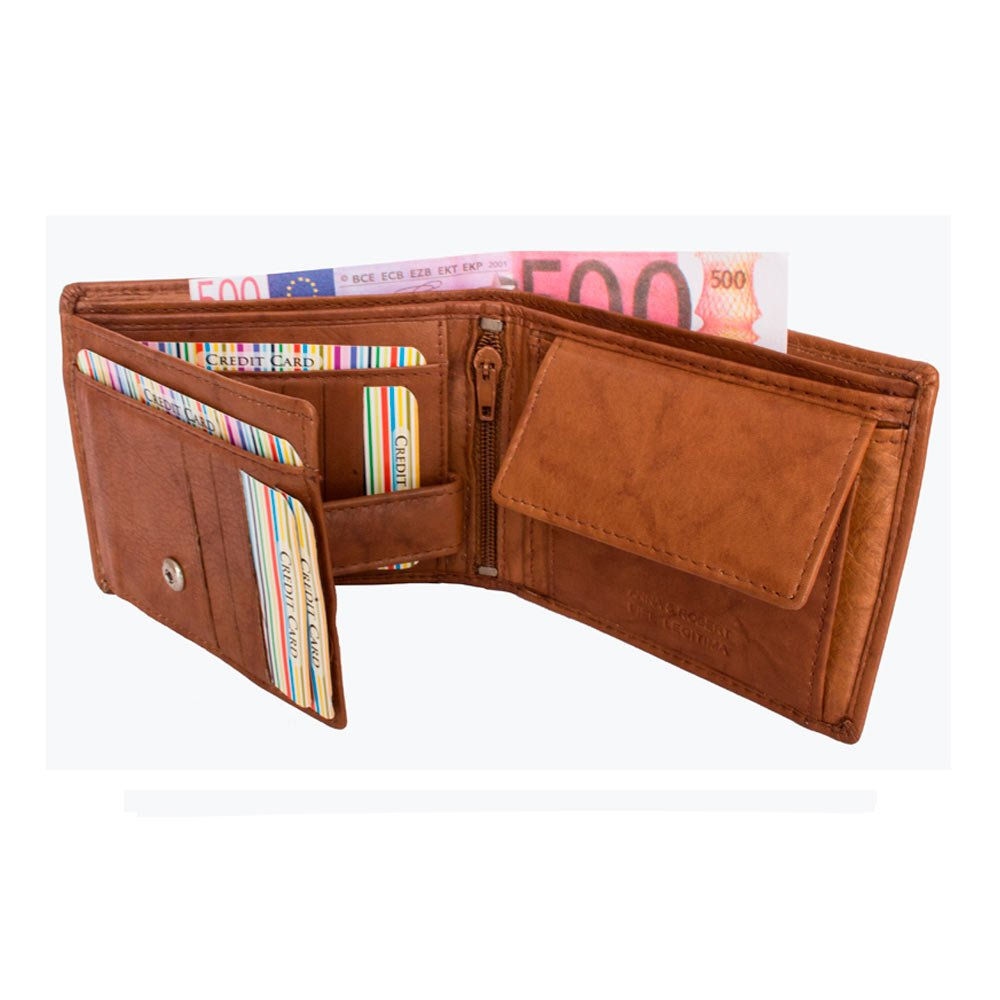 Cartera billetera de hombre en piel con monedero marca Anna & Robert colección Barcelona (cuero): Amazon.es: Zapatos y complementos