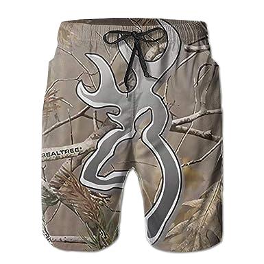 aa4a5cffae Men Swim Trunks Realtree Camo Beach Wear Bathing Suit Casual Running Shorts  Quick Dry Pants for