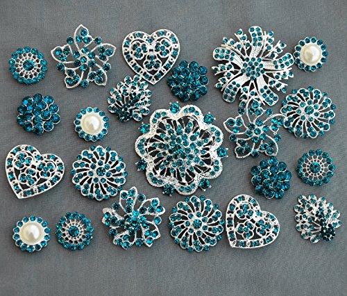 inestone Button Brooch Pearl Crystal Wedding Bridal Brooch Bouquet Cake Wedding Accessories Supply BT984 ()