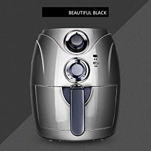 Deluxe Electric Air Fryer + Oven Cooker with Temperature Control, Non-stick Fry Basket, Recipe Guide + Auto Shut Off Feature,1200w-Black