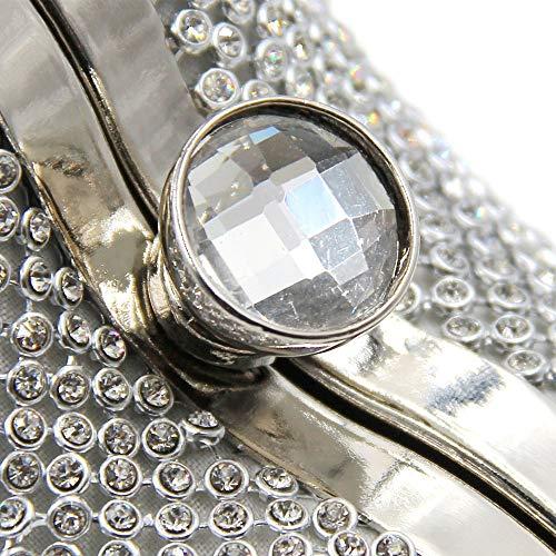Borsa Strass Mano Gold Banchetto Cuore A Cena Commercio Con Di Pack Crystal Forma FFLLAS Silver Evening A Diamante Estero Pacchetto 0w7ApPxq
