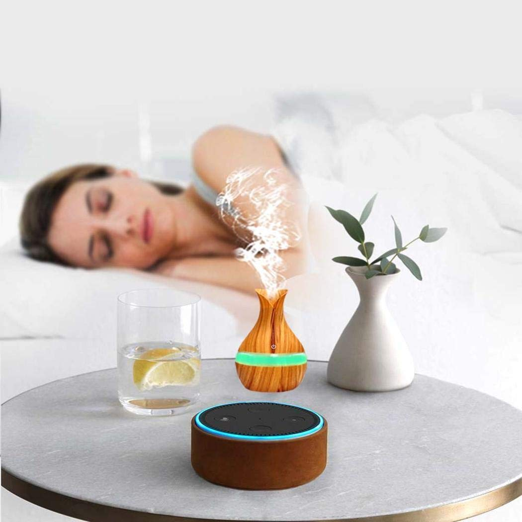 Junio1 Nuova aromaterapia umidificatore a Goccia d\'Acqua con Pallina di Legno da 300 ml Umidificatori