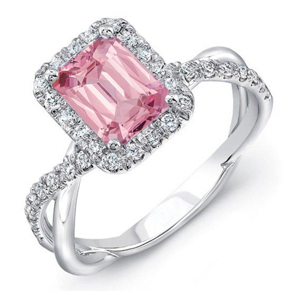 Vorra Fashion Zehenring für Cubic Damen, Verlobungsring, Cubic für Zirkonia, Smaragdschliff, Sterling-Silber 925 abc29e