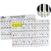 Mengger Pegatinas piano teclados etiquetas clave teclados Etiqueta