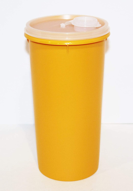 Tupperware Vintage 48oz Handolier Beverage Container Mega Tumbler Harvest Retro Maize Color