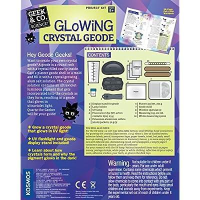 Geek & Co. Science! Glowing Crystal Geode: Toys & Games