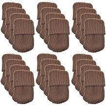 24pcs Polyester Furniture Socks/ Chair Leg Floor Protector,Coffee