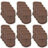 Chair Leg Protectors for Wooden Floors 24pcs Polyester Furniture Socks/Chair Leg Floor Protector,Coffee