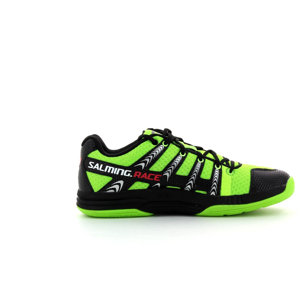 Amazon.com: Salming Race R2 court shoes Fluo Green Black 1233092-1601 13.5 US: Sports & Outdoors
