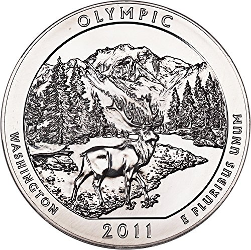2011 P 5 Oz America the Beautiful Silver Quarters Olympic Quarter MS69 NGC
