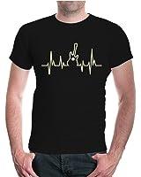 buXsbaum® T-Shirt Musikfrequenz-Gitarre