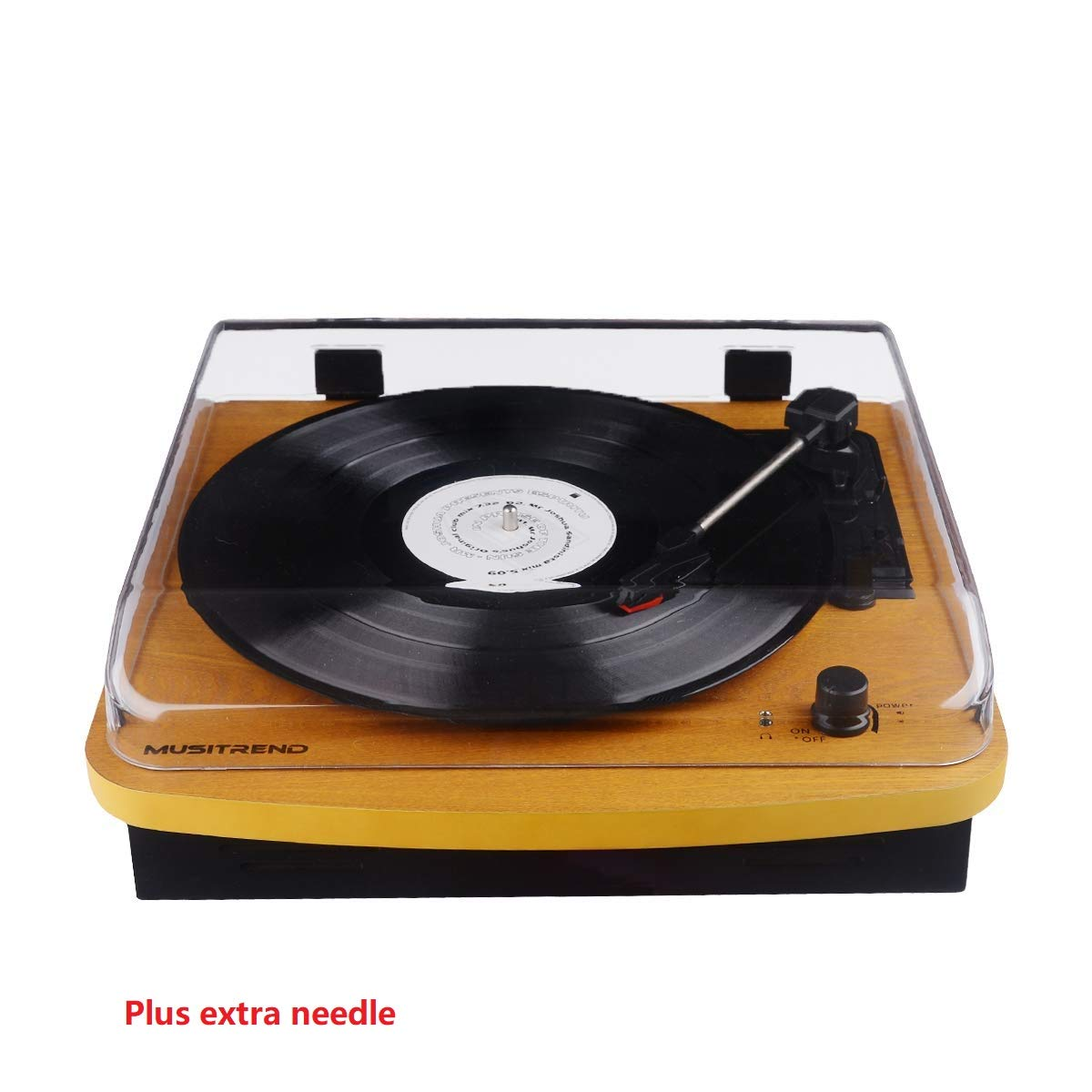 Record Player 3 Speed Turntable Vintage Record Player with Speaker by Goldship