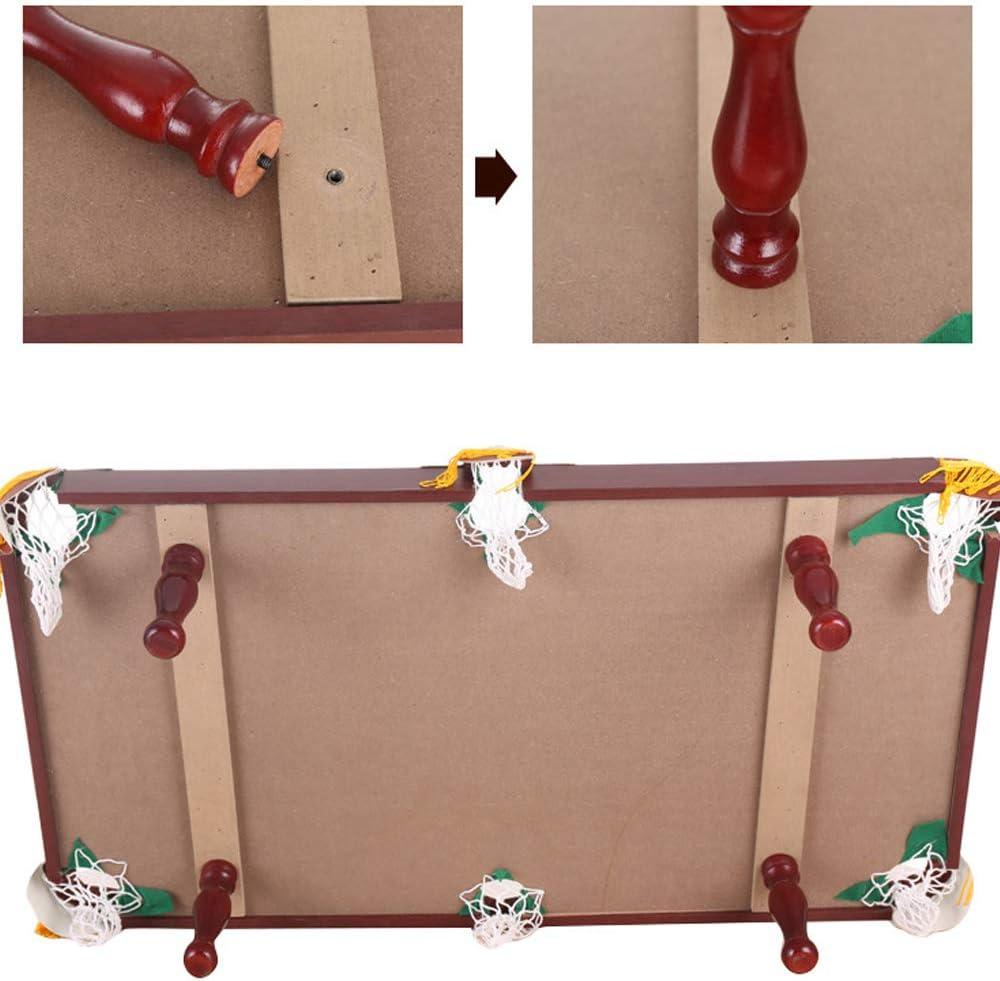 QWERTU Mesa de Billar pequeña, Deluxe Mini Tablero de Madera Piscina Familia Juego de diversión Completo con Bolas Tacos Tiza Pincel de Tela y Triángulo: Amazon.es: Hogar