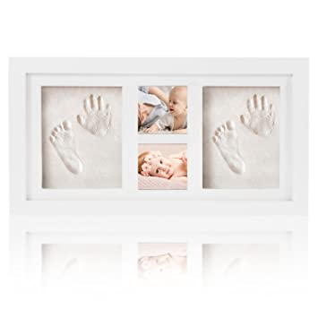 Baby Handprint and Footprint Picture Frame Kit, LinkHealth Baby ...