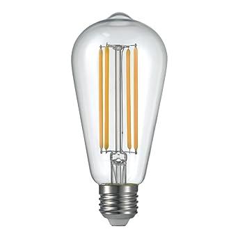 dokoeo, intensidad no regulable, ST18 3 W LED clara Vintage Edison Bombilla w equivalentes
