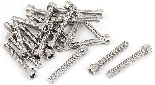 M6 X 1.0 X 50mm Stainless steel hex head metric 10pcs