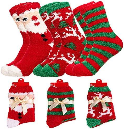 Women Christmas Fuzzy Fluffy Socks product image
