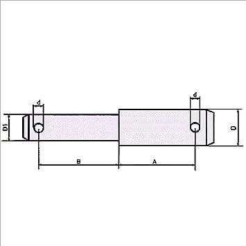 Oberlenker Stufenbolzen Kat 2-1 53mm und 85mm Nutzlänge Sicherungsbolzen Traktor