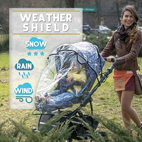 Universal Stroller Rain Cover with Mosquito Net - Protects Babies from Sun, Wind, Rain, Snow, Dust - - http://coolthings.us