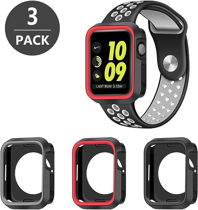 30 opinioni per SYOSIN 3 Pack Cover per Apple Watch 40mm Resistente Custodia Silicone per Apple