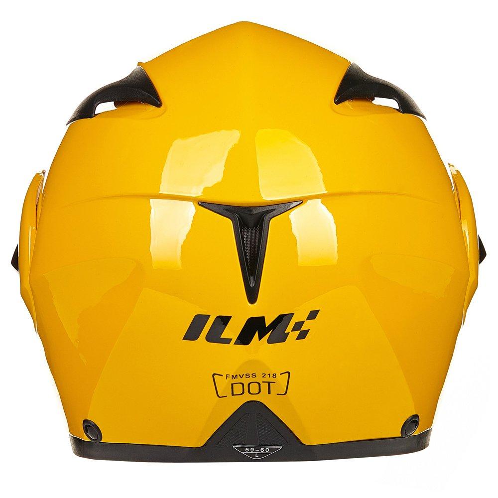 M, Gloss Black ILM 10 Colors Motorcycle Flip up Modular Helmet DOT