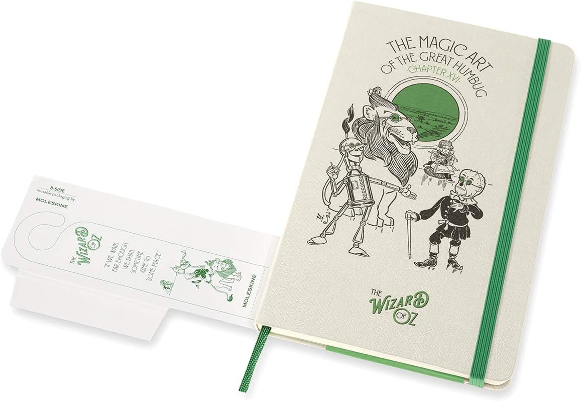 5 x 8.25 Ruled//Lined Magic Art Hard Cover Moleskine Limited Edition Wizard of Oz Notebook 240 Pages Large