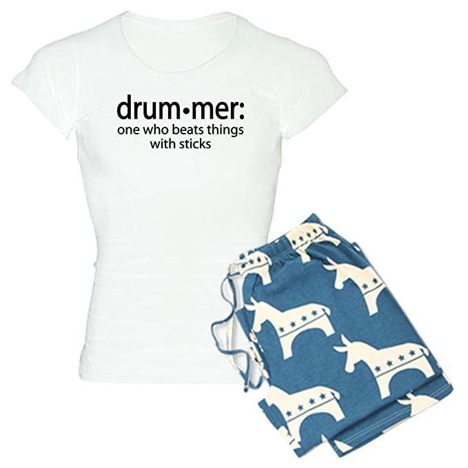 Amazon.com  CafePress-Funny Drummer Definition Women s Light Pajamas ... c4c1b1fea