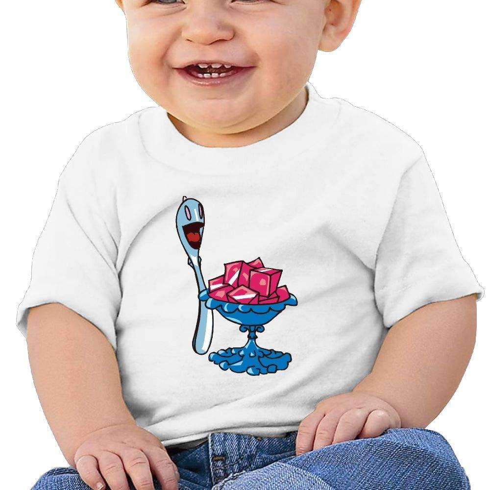 BuecoutesDessert Painting Toddler//Infant Short Sleeve Cotton T Shirts White