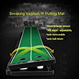 Crestgolf New-arrival Slope-adjustablity Golf Putting Mat Green Indoor Outdoor Auto Ball Return Professional Portable Putting Trainer Set Mini Training Aids For Home Use - Extra Long 9.84 Feet