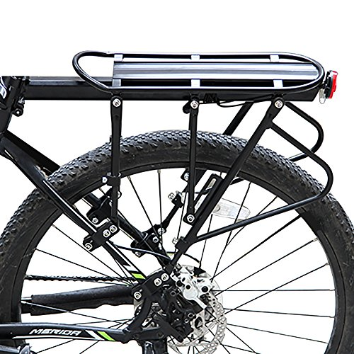 YOPOON Bike Cargo Racks Luggage Carrier Rear Pannier Rack, 396 lb Capacity Adjustable Bicycle Rack with Quick Release