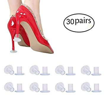 2ac0135f002 30 Pairs Clear High Heel Protectors for Shoes, Stoppers for Walking on  Grass, Small/Middle/Large