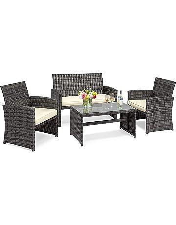 4e7809c0e7a Goplus 4-Piece Rattan Patio Furniture Set Garden Lawn Pool Backyard Outdoor  Sofa Wicker Conversation