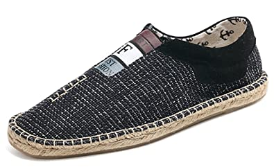 Men's Comfy Low Top Slip On Flat Espadrilles Loafers Shoes