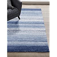 1414 Blue 8x11 Area Rug Modern Carpet Large New