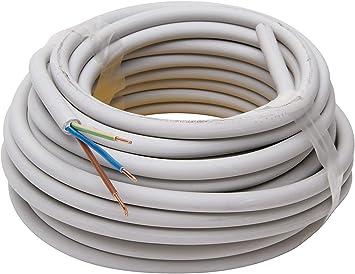 NYM J 3x1,5 mm² nach VDE Mantelleitung Elektroleitung Stromkabel 10-500 Meter