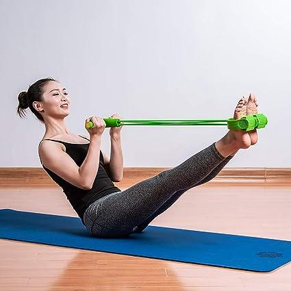 ECYC Banda De Resistencia con Manijas Pedal para Gimnasio Inicio Fitness Entrenamiento De Yoga, Entrenamiento Bandas EláSticas para Brazo Cintura ...