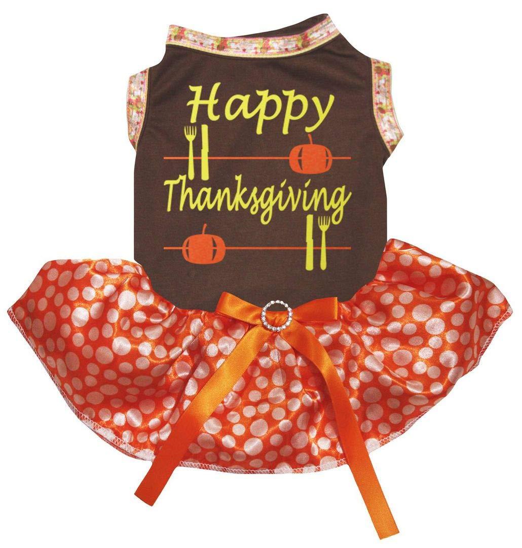 Petitebella Happy Thanksgiving White L//S Shirt Brown Rainbow Ribbon Skirt 1-8y