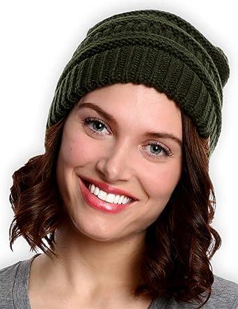 Chunky Winter Knit Hat \u2022 Adult Cable Beanie \u2022 Hand Dyed 100/% Merino Wool \u2022 Hot Pink Faux Fur Pom  \u2022 Teal